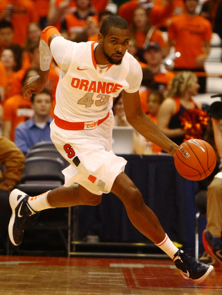 James Southerland pushes the ball down the floor during Thursday's game against Pace.