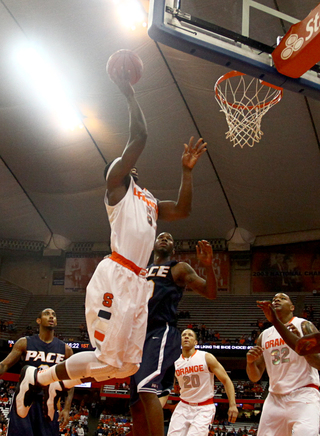 C.J. Fair goes up for a layup against Pace in the Carrier Dome.