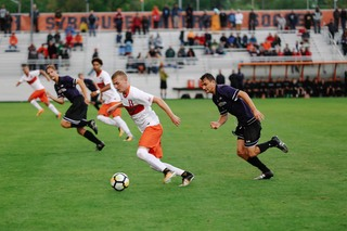 The game at the SU Soccer Stadium was the final match of the Central New York Classic.